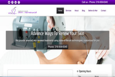 Advanced Skin Renewal - Picture of company website.