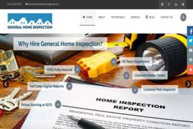 General Home Inspection - Picture of Customer Website